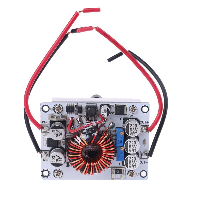180W DC Adjustable Boost Converter With Heatsink And Fan CC/CV Constant Current Step Up Power Module