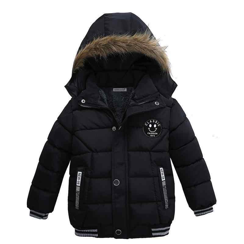 เด็กฤดูหนาวเด็กอบอุ่นเสื้อแฟชั่น 1-5 ปีเด็กชายลำลองฤดูใบไม้ร่วง Hooded หนา Outerwear เสื้อสำหรับชายเสื้อผ้าเด็ก