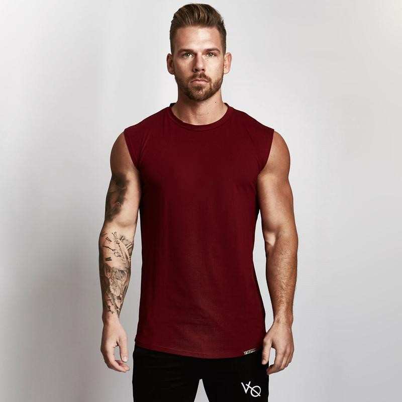 Bodybuilding Men Summer Fitness Work Out   Tank     Top   Fashion Mens Solid Color Crossfit Muscle Loose Breathable Sleeveless Shirts