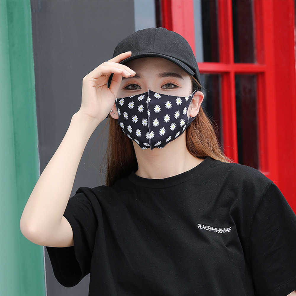 1Pcs Fashion Daisy Mouth Masks Unisex Anti-dust Protective Face Masks Washable Health Care Mouth Respirator Reusable