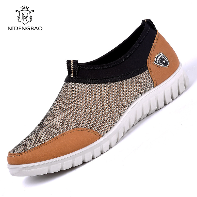 2020 Summer Mesh Shoes Sneakers For Men Breathable Men's Casual Shoes Slip-On Loafers Lightweight Man Walking Shoes Size 38-48