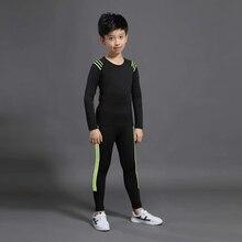 Sportswear Bottom-Shirt Long-Pants Thermal-Underwear Football Boy Children Pajamas