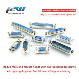 5 шт./лот DB9 DB15 DB25 DB37 9/15/25/37 прямой штырь 180 градусов штекер и гнездо D-sub PCB крепление DP9 DP15 DP25 DP37 разъем