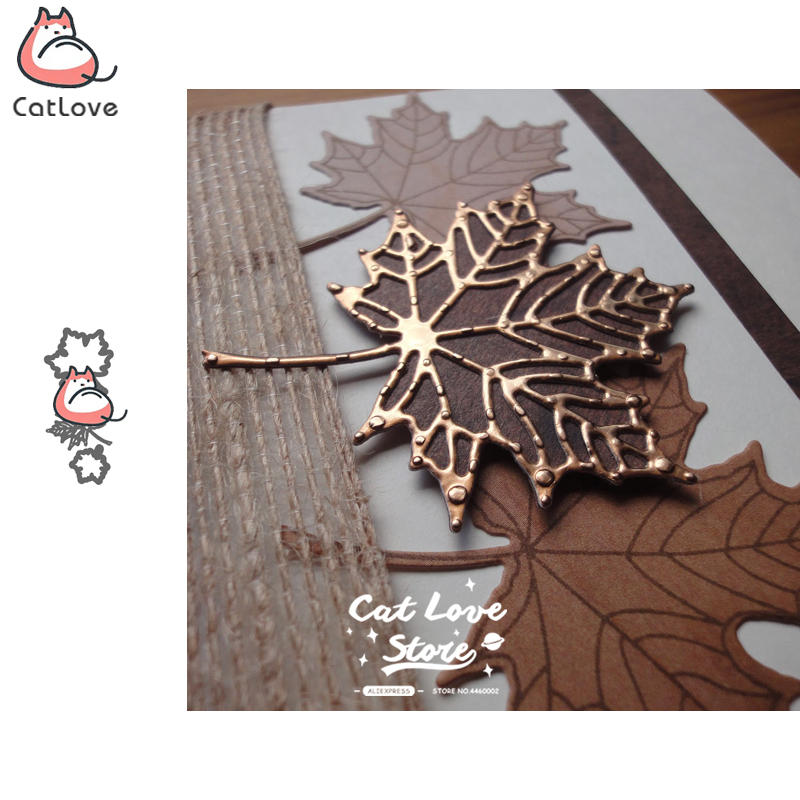 3PCS Maple Leaf Metal Cutting Dies Scrapbooking Stencil Die Cuts Card Making DIY Decorative Craft Embossing New Dies For 2019