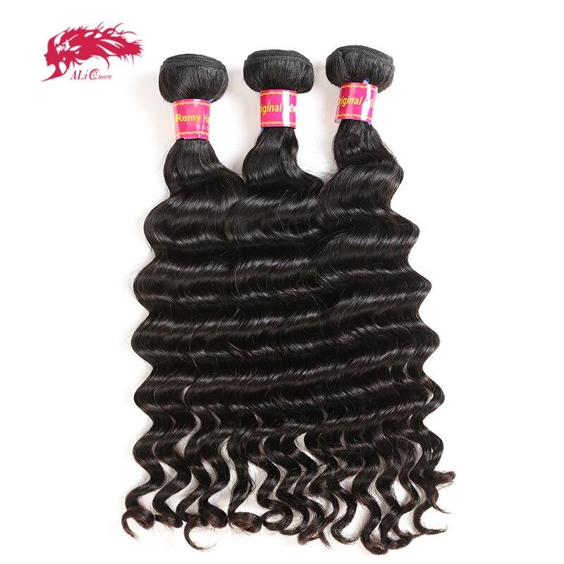 Ali rainha cabelo 3 pçs lote brasileiro onda natural extensões de cabelo 10
