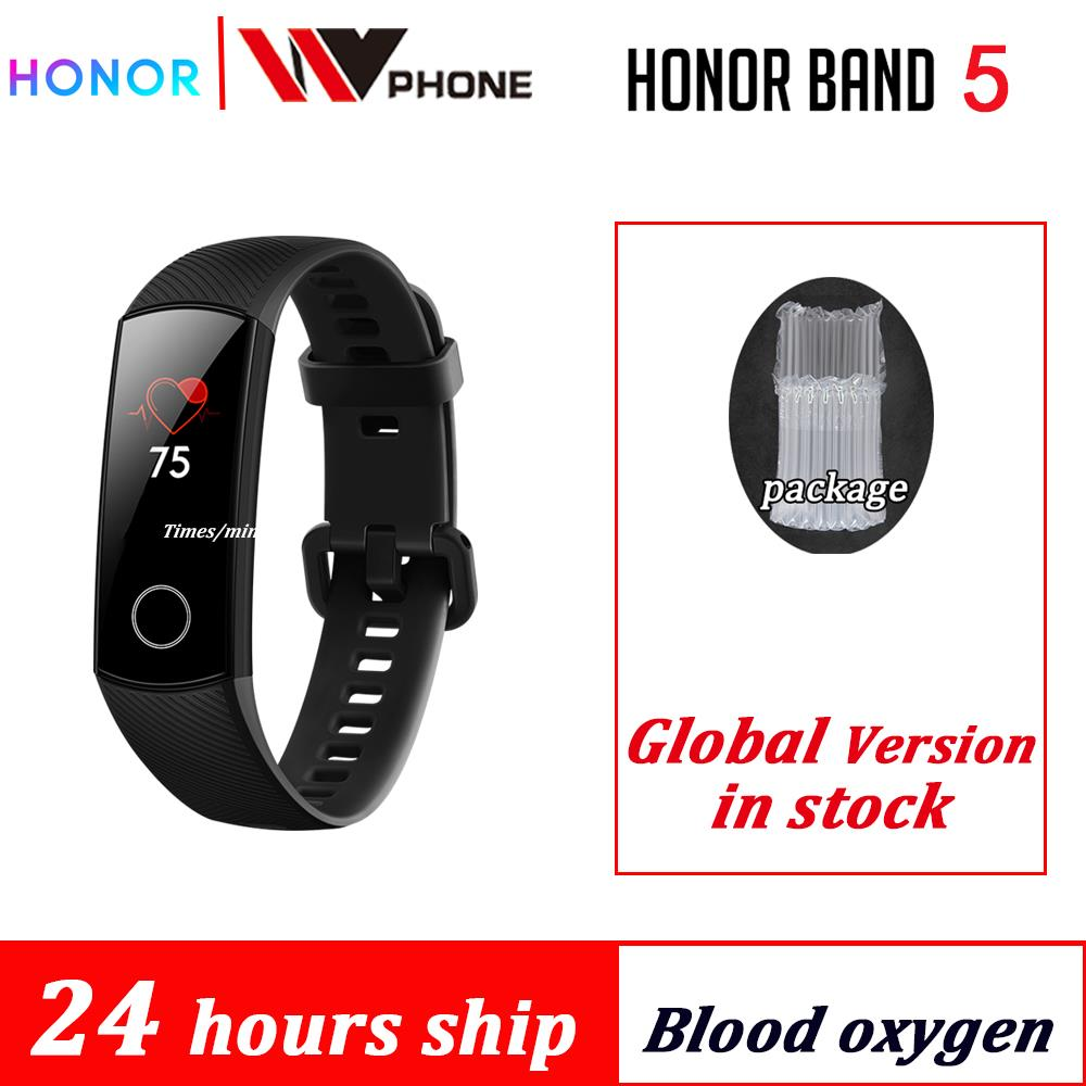 Honor Band-5 Smart-Watch Swimming-Sport-Tracker Blood-Oxygen Fitness Sleep Huawe AMOLED