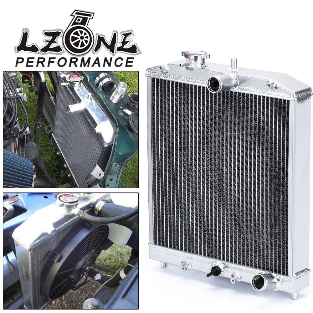 Алюминиевый радиатор LZONE - 3 ряда 52 мм для HONDA CIVIC B18C/B16A MT 32 мм, Входное/выходное устройство, для HONDA CIVIC B18C/B16A