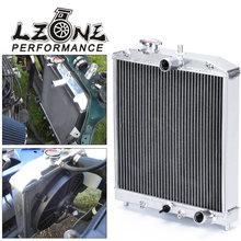 LZONE - 3 Fila 52 MILLIMETRI di Alluminio Del Radiatore Per HONDA CIVIC B18C/B16A MT 32MM IN/FUORI JR-SX104