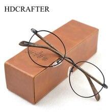 Винтажные роскошные круглые мужские очки hdcrafter в металлической