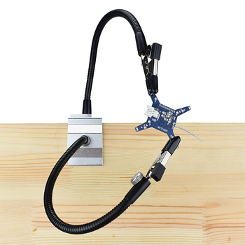 Vise Aluminum Stand Soldering Station Welding Station Distribution Board Circuit Board Welding Station With 2PCS Flexible Arms nb 350i 500i secondary welding machine control board gas welding machine circuit board circuit board main board