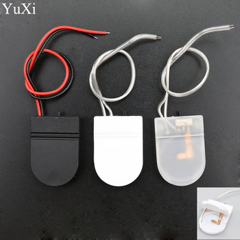 YuXi CR2032 Button Coin Cell Battery Socket Holder Case Cover With ON/OFF Switch 3V x1 6V battery Storage Box image