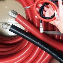 2AWG 35 ^ mm Gauge AWG Silikon Gummi Weichen Draht Kabel Heatproof Silikon Silica Gel DIY Draht Kabel Anpassen terminal Draht