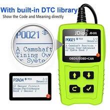 Para JD101 OBDII EOBD AL519 dispositivo de diagnóstico escáner de códigos OBD del vehículo código de Error de los lectores para todos los coches automóvil Herramientas de reparación