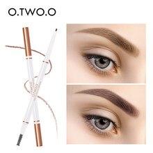 O.TWO.O Kaş Kalem Su Geçirmez Uzun Ömürlü Doğal Ultra Ince 1.5mm Göz Kaş Tonu Kozmetik Kahverengi Renk Kaşlar Makyaj
