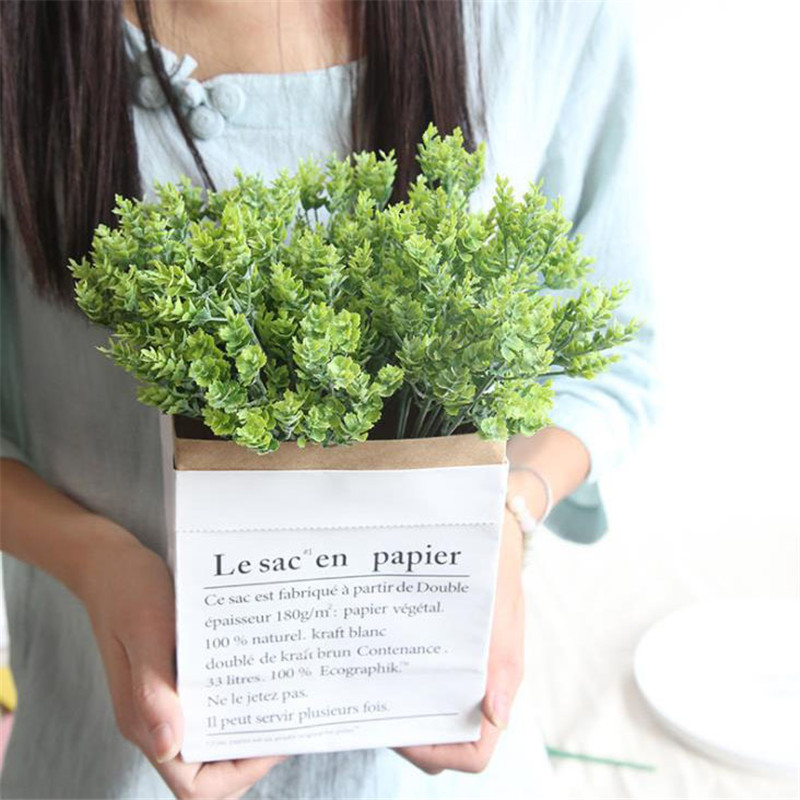 Simulation green grass Artificial plants 1pcs Fake plant decorate flowers For wedding font b home b