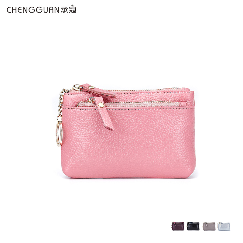 fashion quality chengguan CL8622 genuine leather wallet Women Coin Purses Female Zipper Leather Money Holders Wallets Card bag