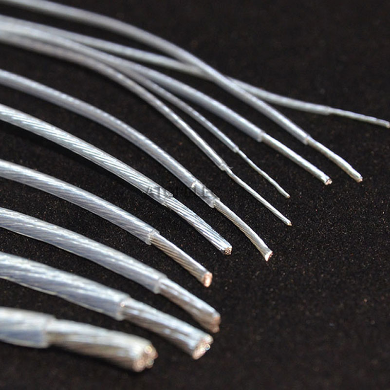 5 м посеребренный FEP провод высокой чистоты OFC медный кабель HiFi аудио динамик наушники DIY 10/11/13/14/15/18/20/22/24/26/28/30 AWG