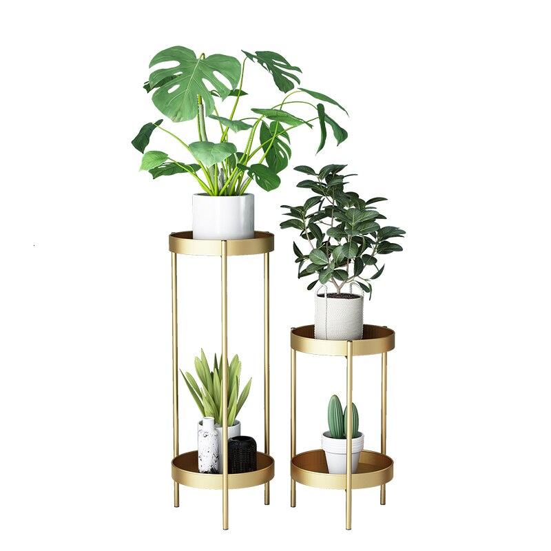 Art Multi-storey Landing Type A Living Room Exhibition Flower Rack Shelf Chlorophytum Flowerpot Frame Green Luo Flower Airs