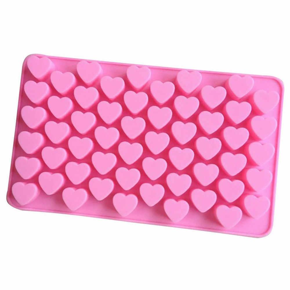 55 ranura Mini forma Corazón de amor Chocolate pastel molde silicona Muffin suave caramelo horno hornear molde de caramelo seguro Eco Freindly hecho a mano