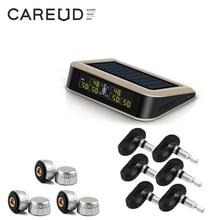 CAREUD-sistema de supervisión de presión de neumáticos inalámbrico, sistema de supervisión de presión de neumáticos con 6 sensores externos/internos, máximo 130 PSI