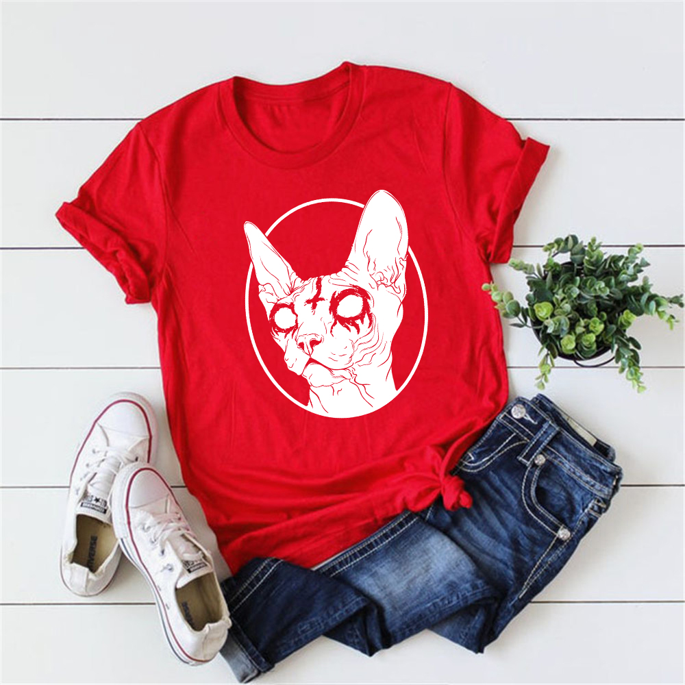Gothic Hipster Sphynx Cat T-Shirt