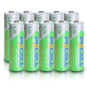 Image 1 - 10 個pkcell aa 2200mahバッテリ 1.2vニッケル水素単三充電式電池 2A precharge lsd電池ニッケル水素のためのカメラおもちゃ