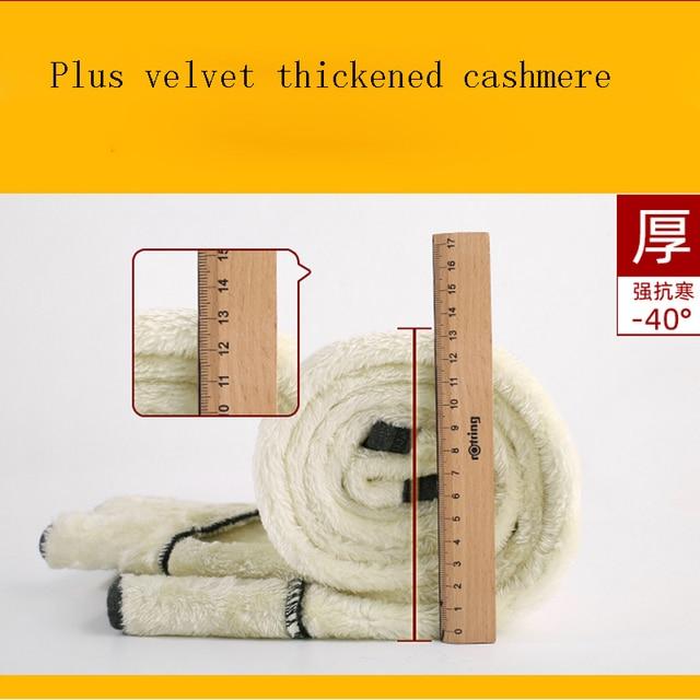 Black Women Winter Thick Velvet Pants Plus Size Warm High Waist Stretch Skinny Pencil Trousers Casual Wool Fleece Pant 2