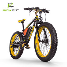 Richbit RT-022 1000W Sneeuw Fiets 21 Speed Elektrische Fiets 26 Inch 4.0 Fat Tire Ebike 48V17Ah Lithium Batterij Elektrische mountainbike