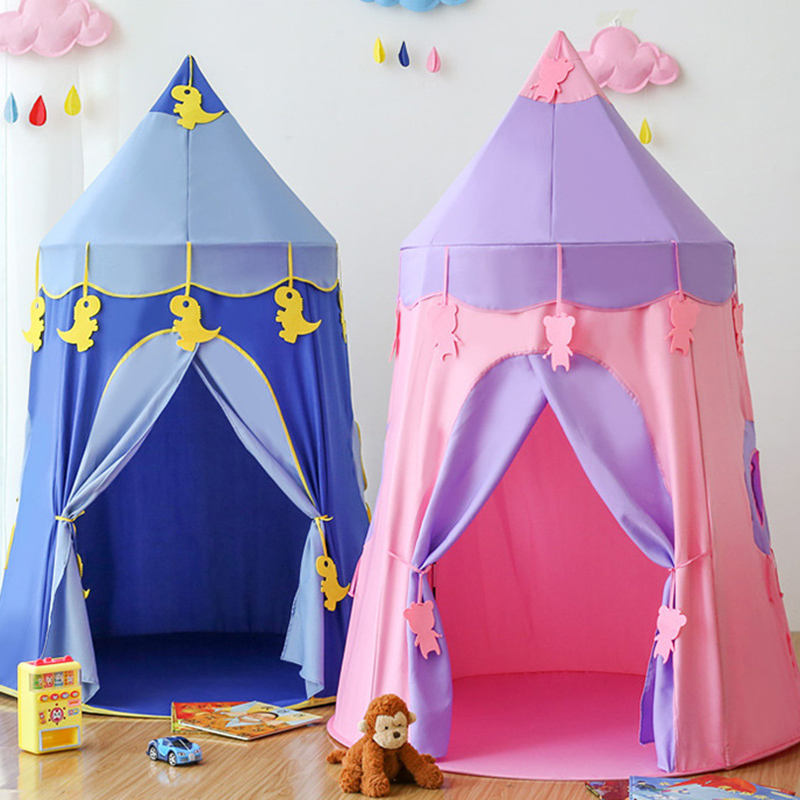 Portable Children's Tent Kids Tent Baby Play House Princess Castle Girl Outdoor Indoor Toys Children Teepee Tent Play Tent Gifts