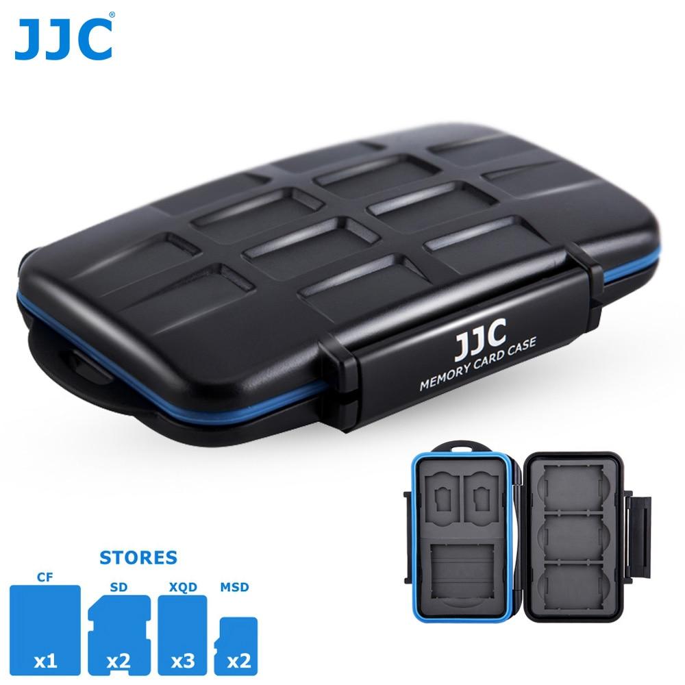 JJC 8 Slots Waterproof Memory Card Case Wallet Holder for 1 CF 2 SD SDXC SDHC 2 MSD Micro SD TF 3 XQD Card Storage Box Organizer