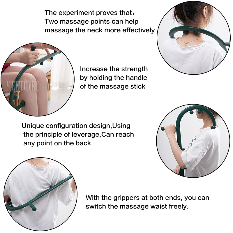 Image 5 - Trigger Point Self Massager Stick Theracane Body Muscle Relief Back Massage Hook Thera Cane Therapeutic Relaxation Pressure ToolMassage Stick   -