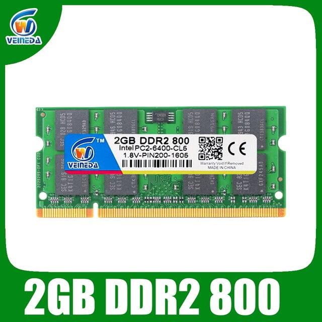 VEINEDA ddr2 2 ГБ 800 память оперативная память sodimm ddr 2 Совместимость Intel и AMD 667 533 Mobo
