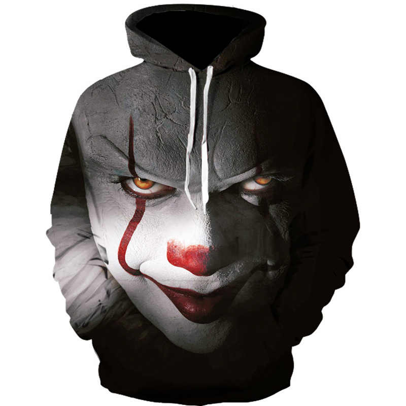 Clown Hoodies Men Fashion Streetwear Loose Fit Clothes Casual Men 3D Sweatshirt Harajuku Hoody Hip Hop Sudaderas Para Hombre