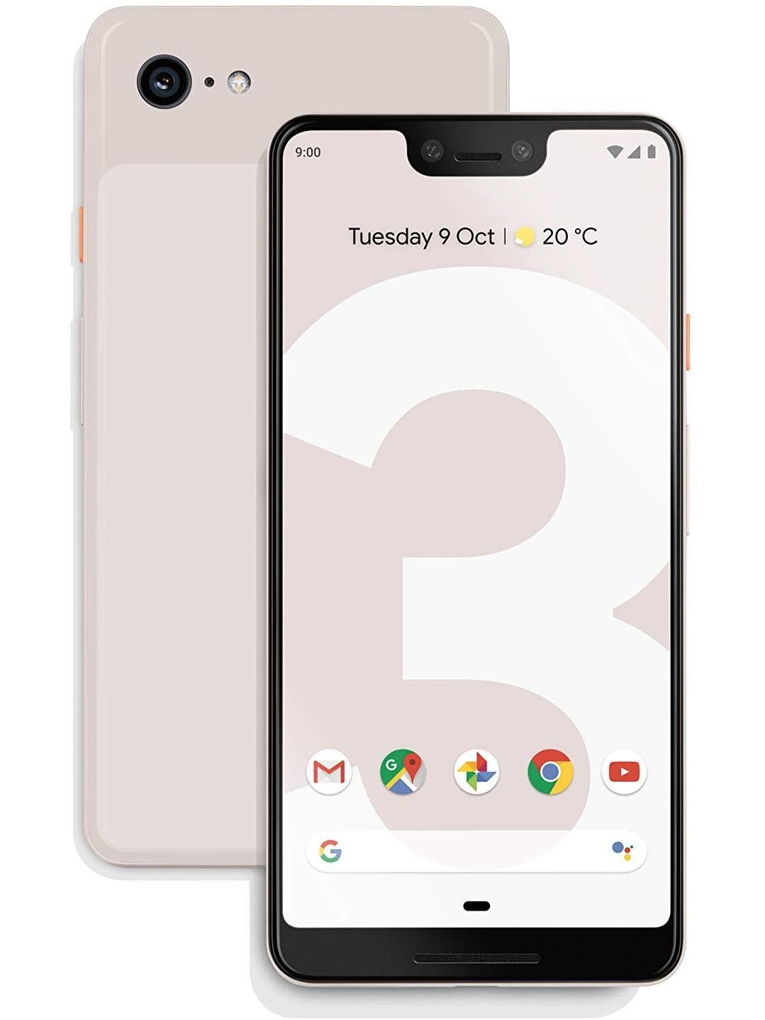 Téléphone google Pixel 3 XL, (rose), 64 go de mémoire interne 4 go de RAM, 6,3