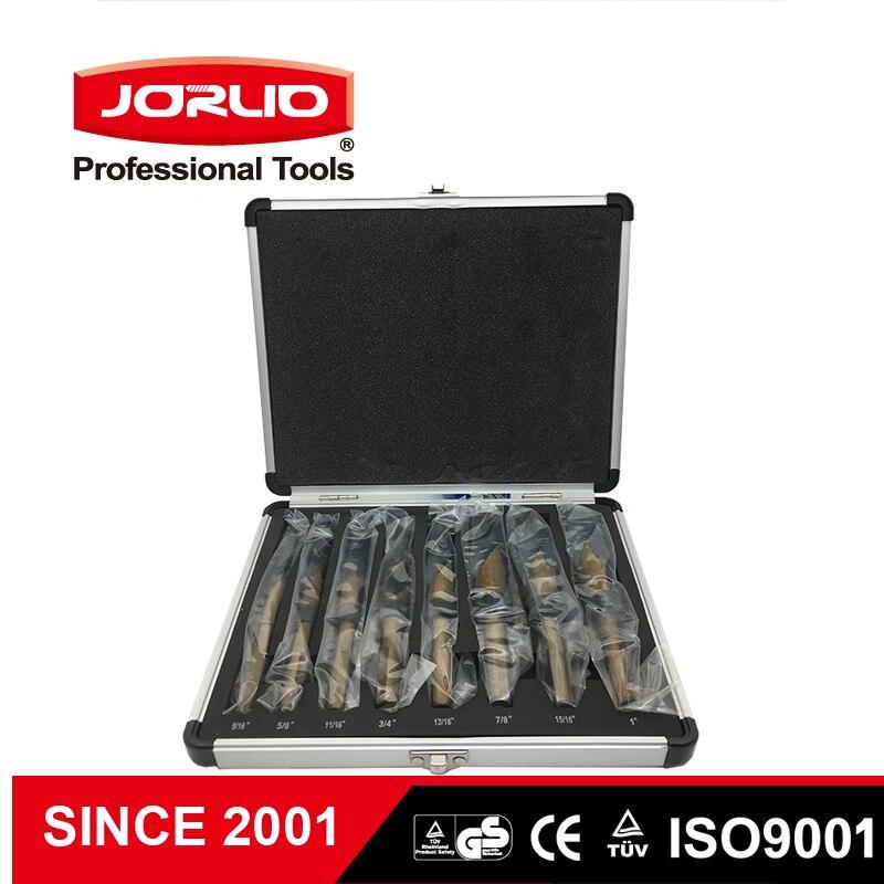 HSS Metal Twist Drill Bit Set 8pcs/16pcs Straight Shank Hole Metalworking Power Tools Accessories