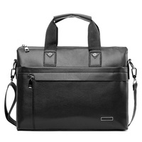 Business Briefcase Men Leather Laptop Bags Casual Computer Bags Male Travel Shoulder Bags Black Brown Briefcases