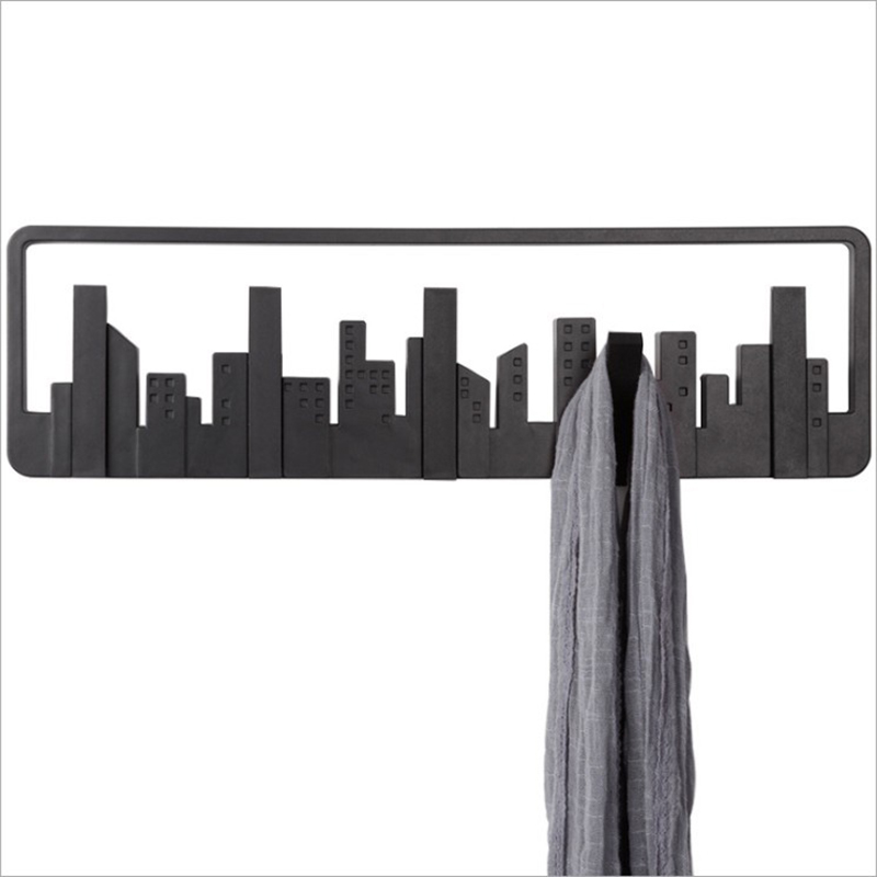 Horizon Coat Hook Wall Hanging Hook Door Hangers Multi-Group Hook Home Decoration Hooks Black