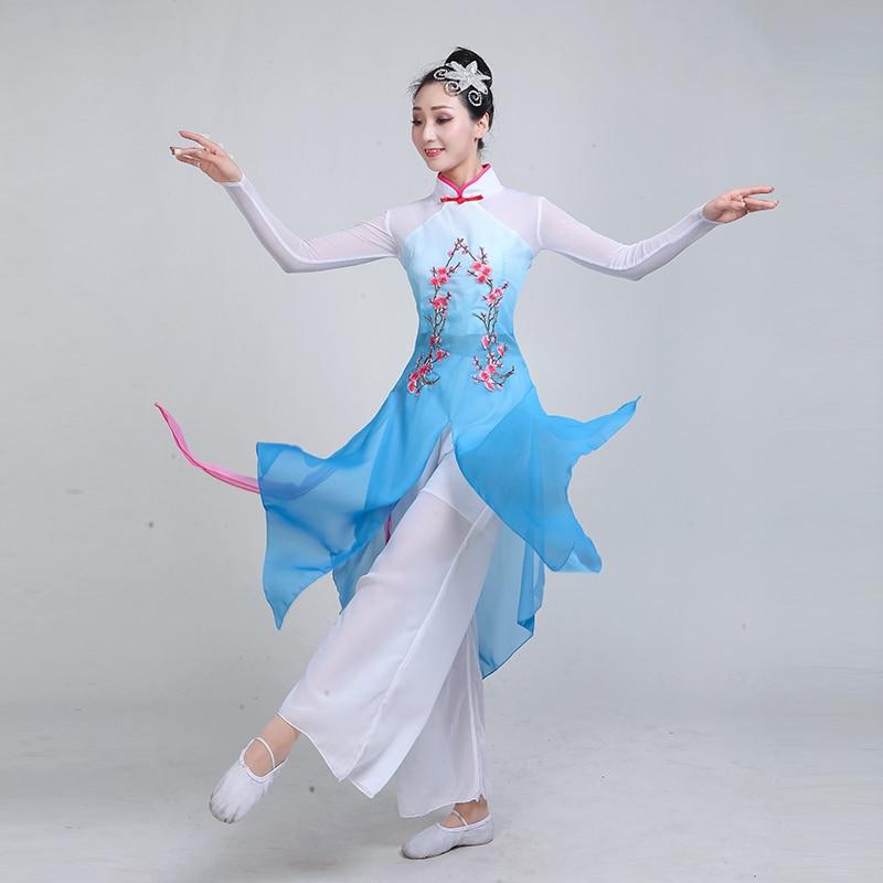 Новая женская классика танцевальные костюмы 2019 Новый веер для взрослых народные танцы танцевальная одежда китайский стиль танец сливы