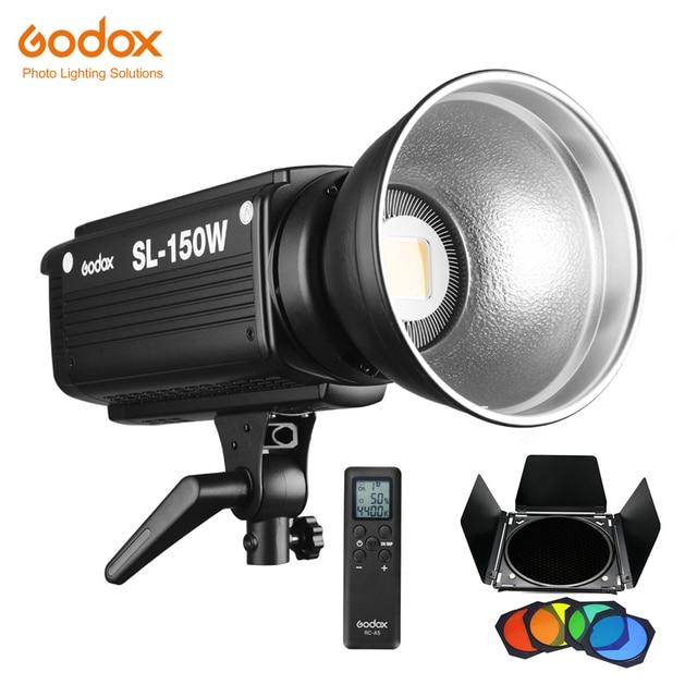 Осветитель Godox SL 150W SL150W 150WS, 5600 К с ЖК панелью, светодиодный видеосвет, студийный осветитель с постоянным выходом и байонетом Bowens
