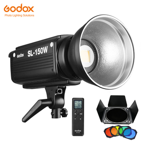 Image 1 - Godox SL 150W SL150W 150WS 5600K לבן גרסה LCD פנל LED וידאו אור רציף פלט Bowens הר סטודיו אור