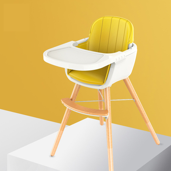 Nordic Contracted Baby Children Eat Eat Chair Multi-function Table Seat Baby Bb Stool Solid Wood Chair