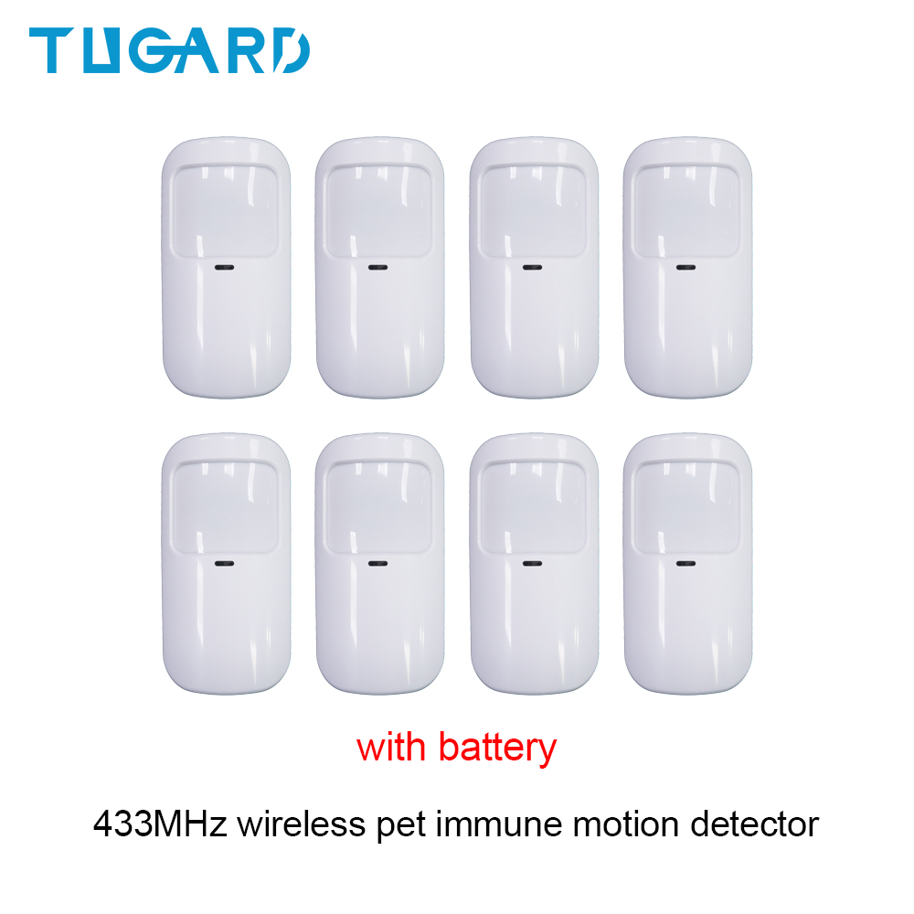 Tugard detector de movimento sem fio, 433mhz, anti-animal de estimação, infravermelho, pir, detector de movimento e sensor, casa inteligente, segurança acessórios