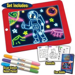 3D Magical pade Reuse Create Art That Glows Magic Board Children Writing Board Clipboard Gift Response Creative Toy