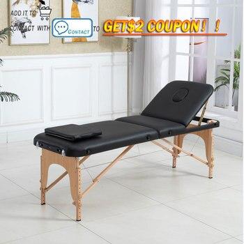 Cama de masaje ajustable para Spa, 3 pliegues portátil de sofá de...