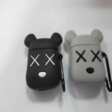 3-D Violent Bear AirPods Cover 12 Generations Applicable to  Wireless Headphone