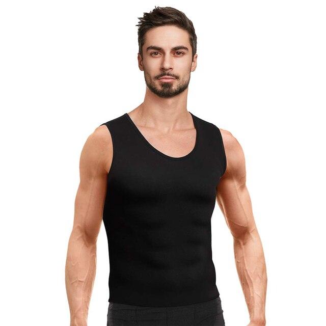 Mens Body Shaper Vest Modeling Fat Burning TShirt Black Slimming Belt Belly Sweat Weight Loss Waist Trainer 1