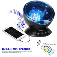 Ocean Projector With USB Remote Control Stylish Bedroom Starry Sky Projection Night Light LED Creative Star Projector