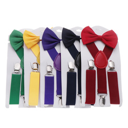 Suspenders For Children Boys Girls With Bow Tie Adjustable Elastic Straps Accessories For Wedding Ties For Babies Handsome