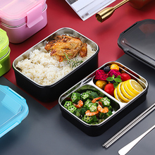 Portable High Quality Stainless Steel Insulated Lunch Box Double-Layer Office Worker Adult Student