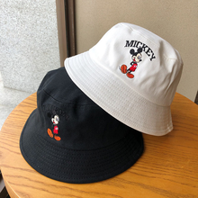 Verano Disney sombrero de cubo de Mickey Mouse, moda de playa, algodón bordado pescador visera del sol sombreros de Hip Hop para hombres, mujeres, Gorras